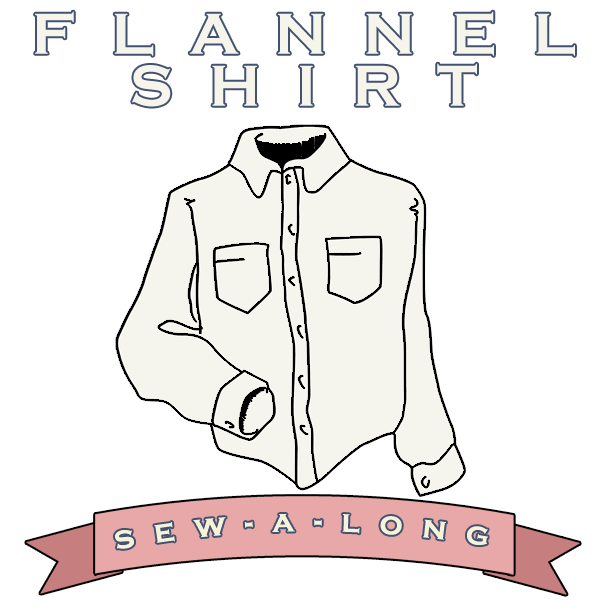 flannel shirt sew-a-long: cutting the fabric & applying interfacing