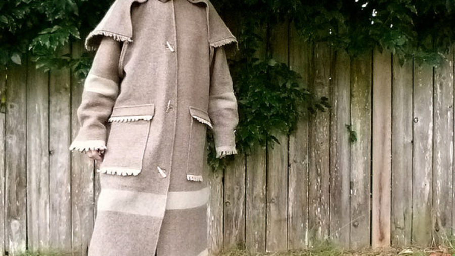 Wool Drover Coat For M.