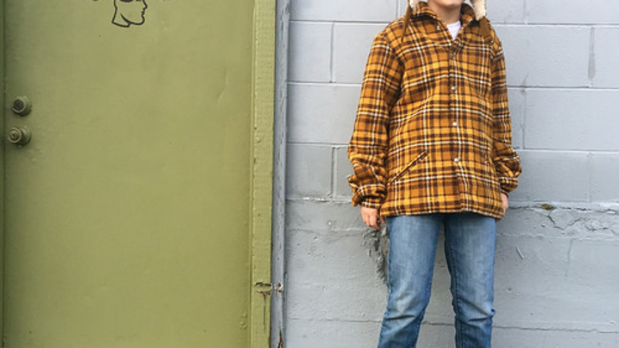 Mustard-Plaid Car Coat