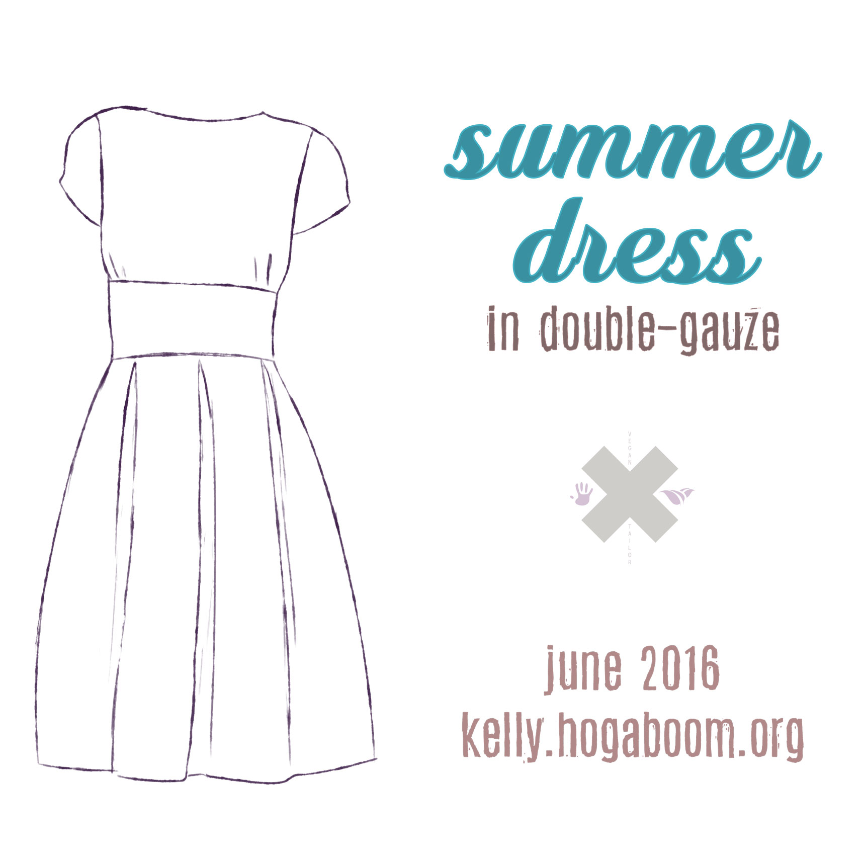 summer dress in double-gauze: the skirt & zipper
