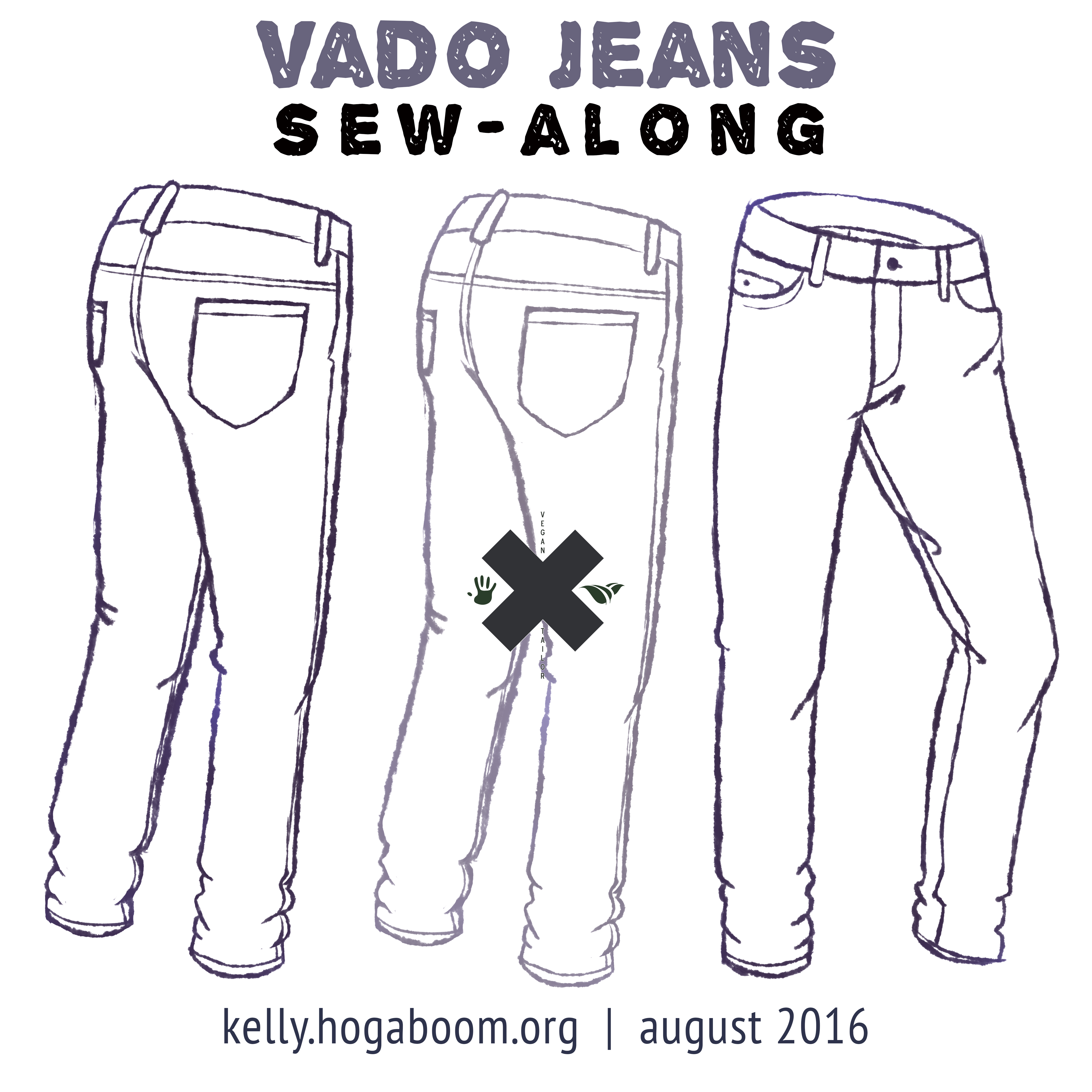 vado jeans sew-along: back pockets & yoke