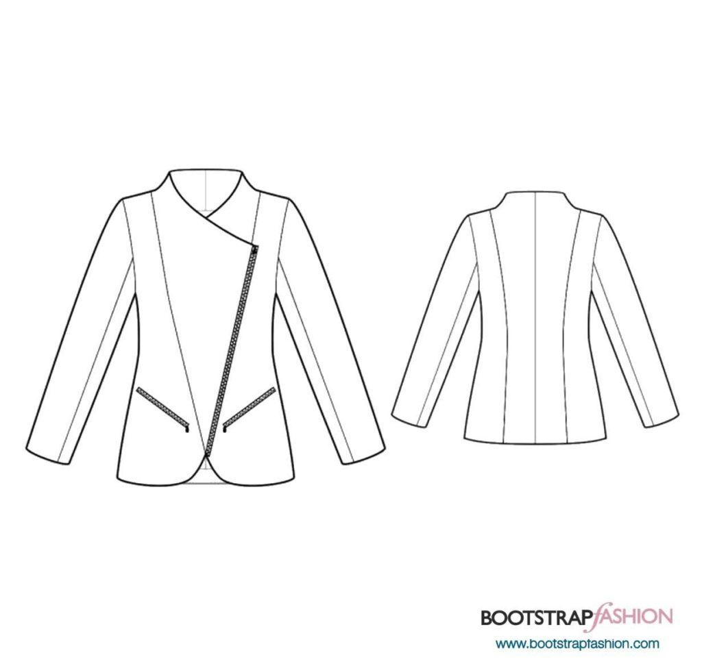 jacket-with-diagonal-zipper