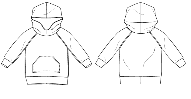 Hooded Raglan Sweatshirt