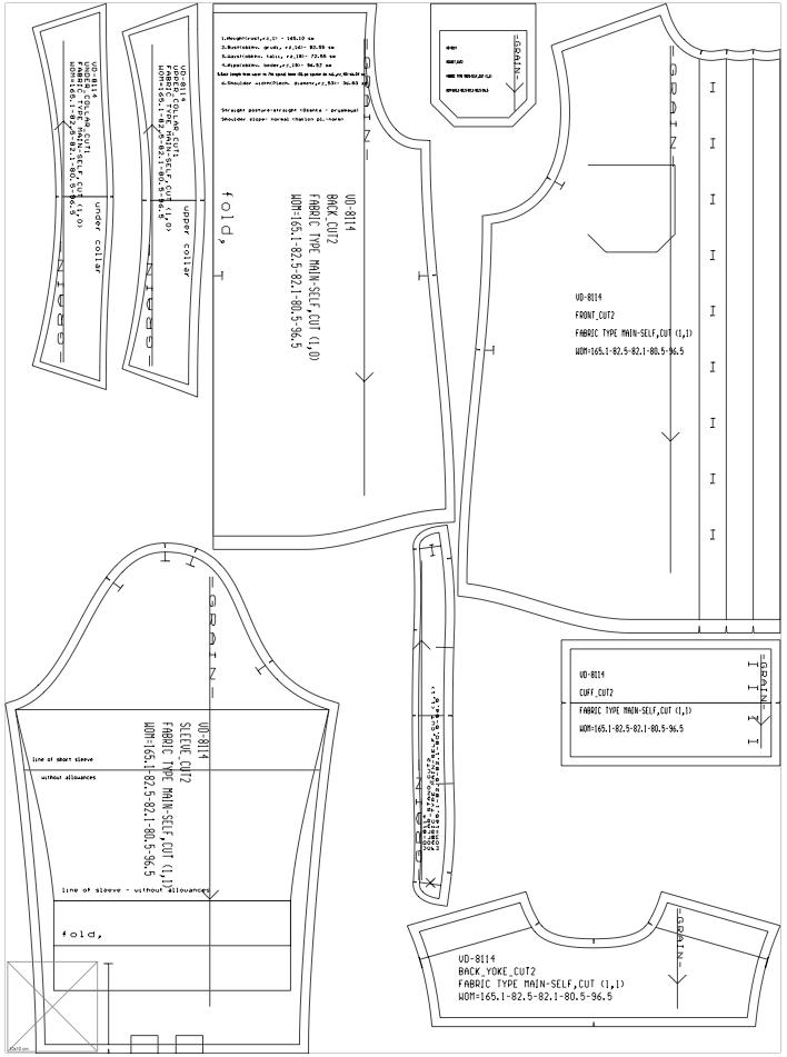 Bootstrap Fashion: Semi-fitted Womens Blouse (pattern sheet)