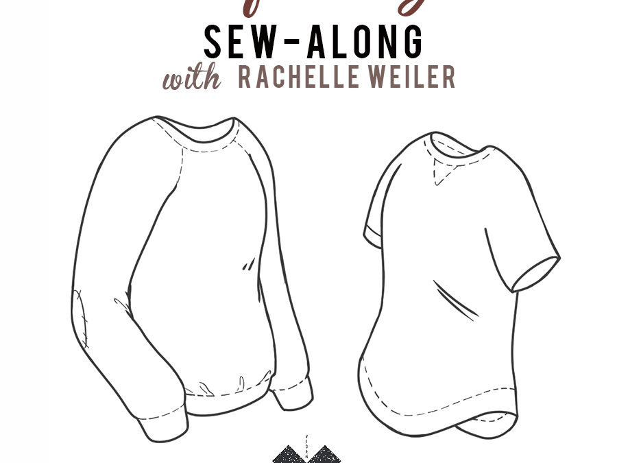 slim fit raglan sew-along: cuffs, waistband, & curved hem