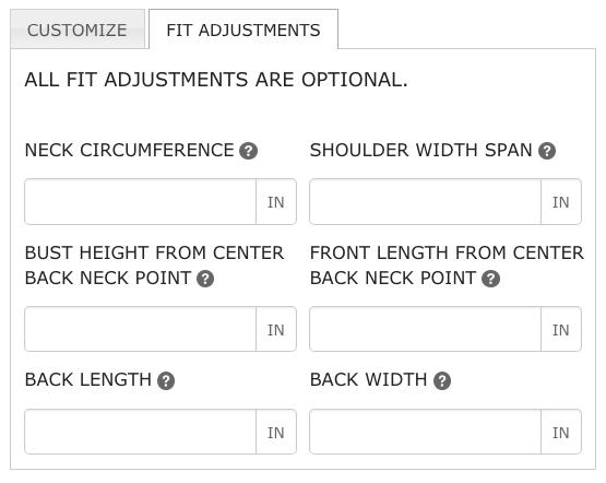 bootstrap measurements fit adjustment