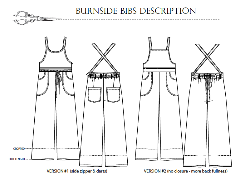 Burnside Bibs pattern description