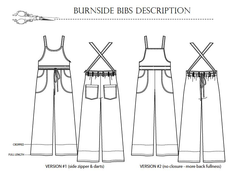 Burnside Bibs pattern description
