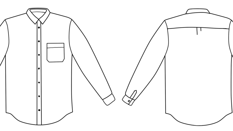 Clean finish menswear shirt, picture 1