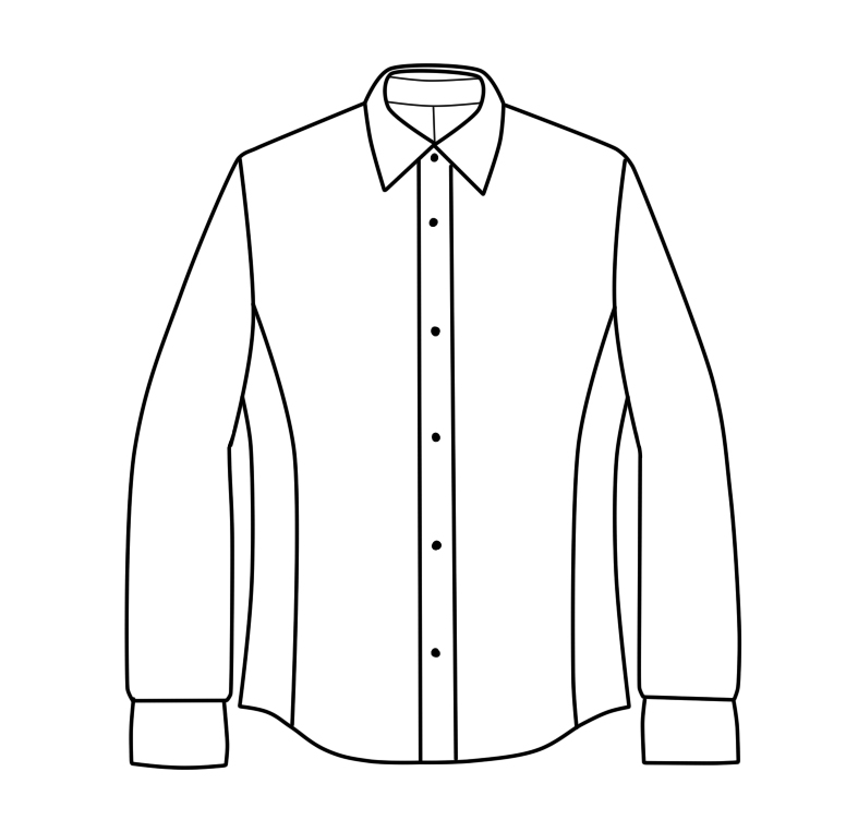 Clean finish menswear shirt, picture 2