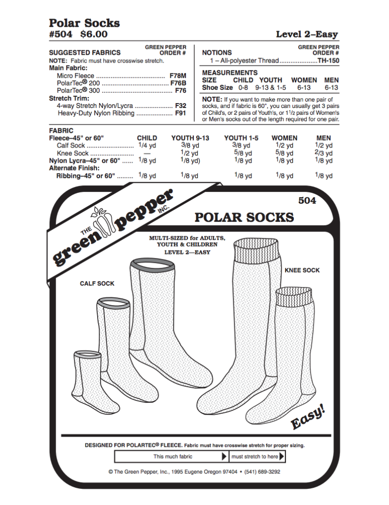 Green Pepper 504 - polar socks