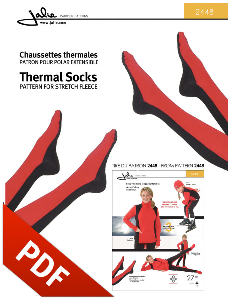 Jalie 2448 - thermal socks