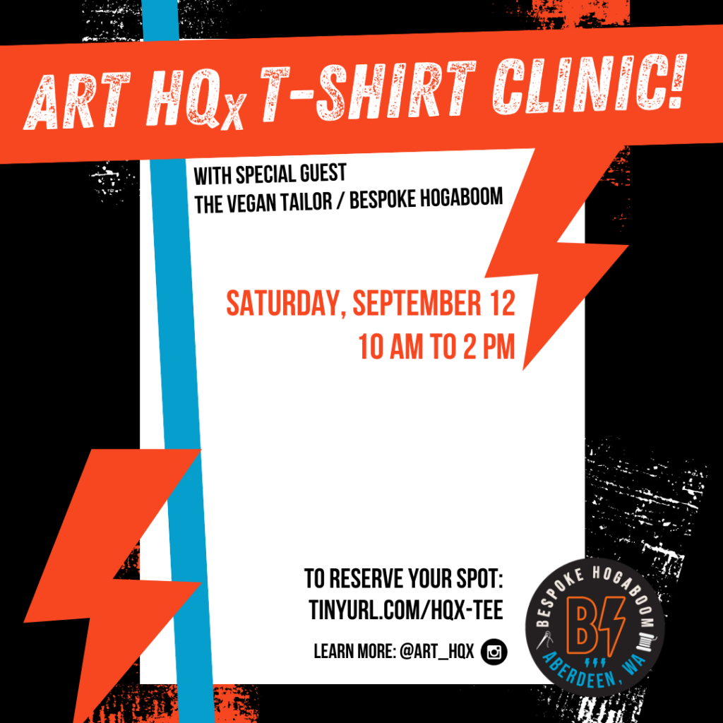 ART HQx t-shirt clinic with Bespoke Hogaboom