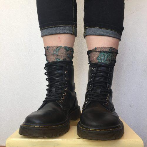 Bespoke Hogaboom, goth socks (shoes)